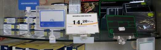 Porta prezzi e segnaprezzi per alimenti for Arredo farmacia usato