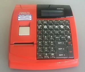 Registratore di cassa Custom Red -Usato-