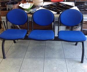 Poltrone 3 posti per sala d'attesa usata